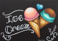 チョークアート教室アイスクリーム