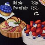 ケーキ屋さん看板