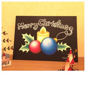 チョークアートクリスマス体験