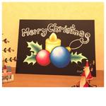 クリスマスチョークアート体験