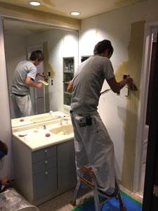洗面所内装工事