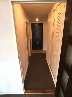 内装廊下 カーペット、壁紙