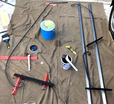 アイアンブラケット製作  塗装