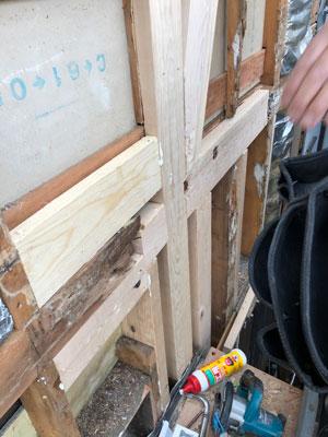 雨漏りシロアリ被害補修