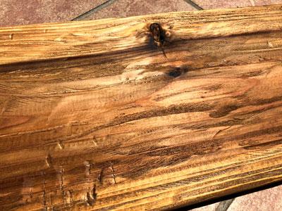 棚板アンティーク加工ステイン塗装