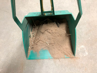 木の粉の量が多い