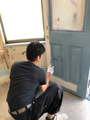 美容室ぽぷり塗装工事