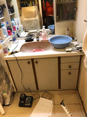 現状の洗面化粧台
