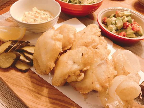 真鯛と黒鯛のフュッシュ&チップス