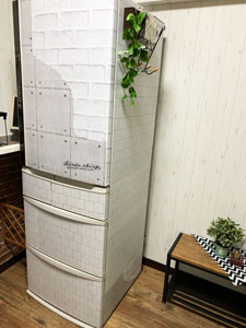 冷蔵庫ステッカーDIY