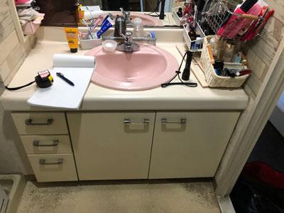 既存洗面化粧台