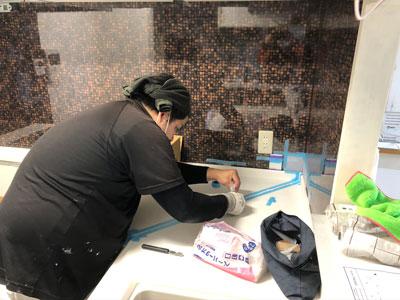 キッチン組立工事