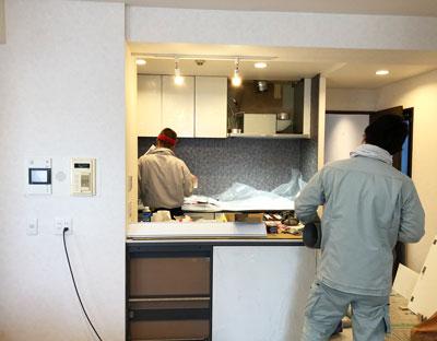 キッチン組立