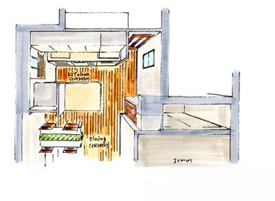 キッチン俯瞰図